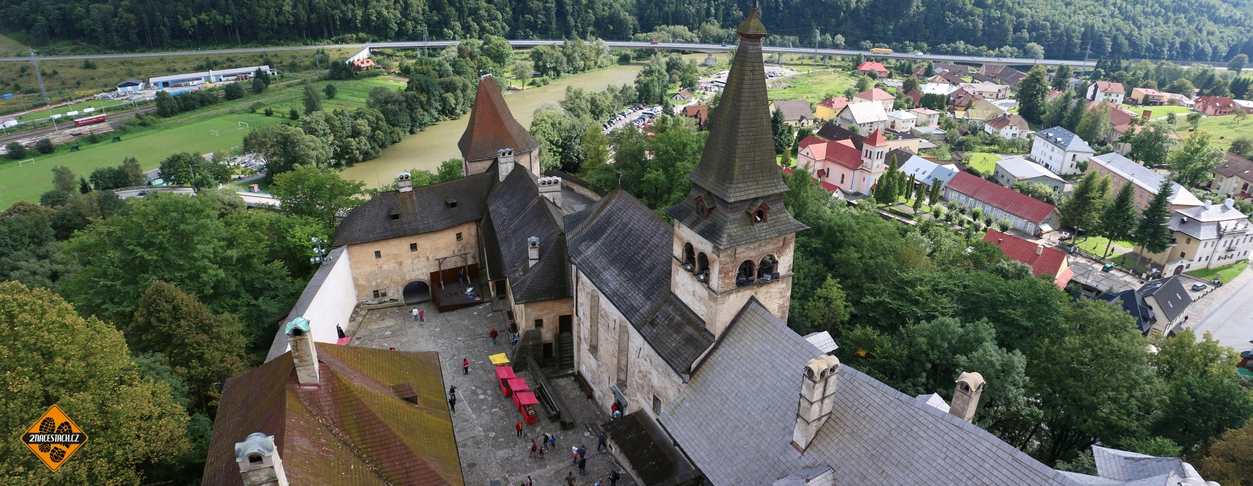 Výhled z Oravského hradu