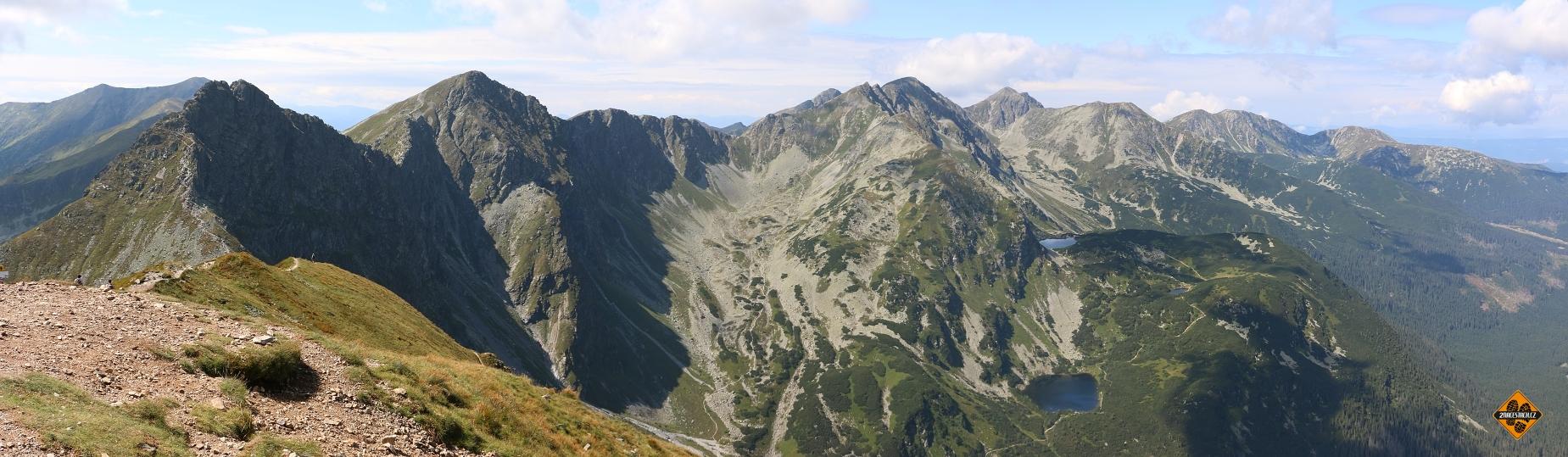 Hlavní vrcholy Roháčů z Volovce