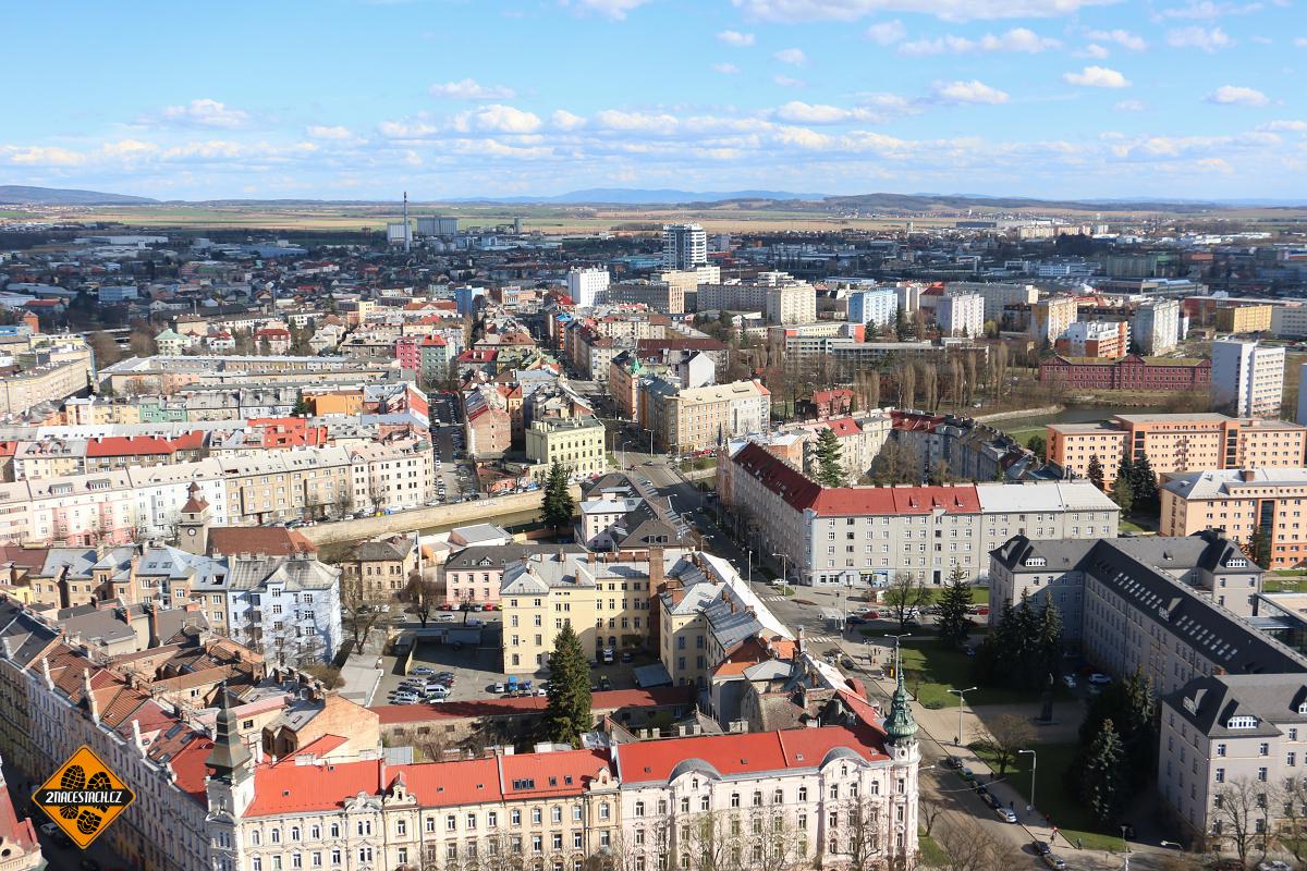 Olomouc z věže sv. Václava