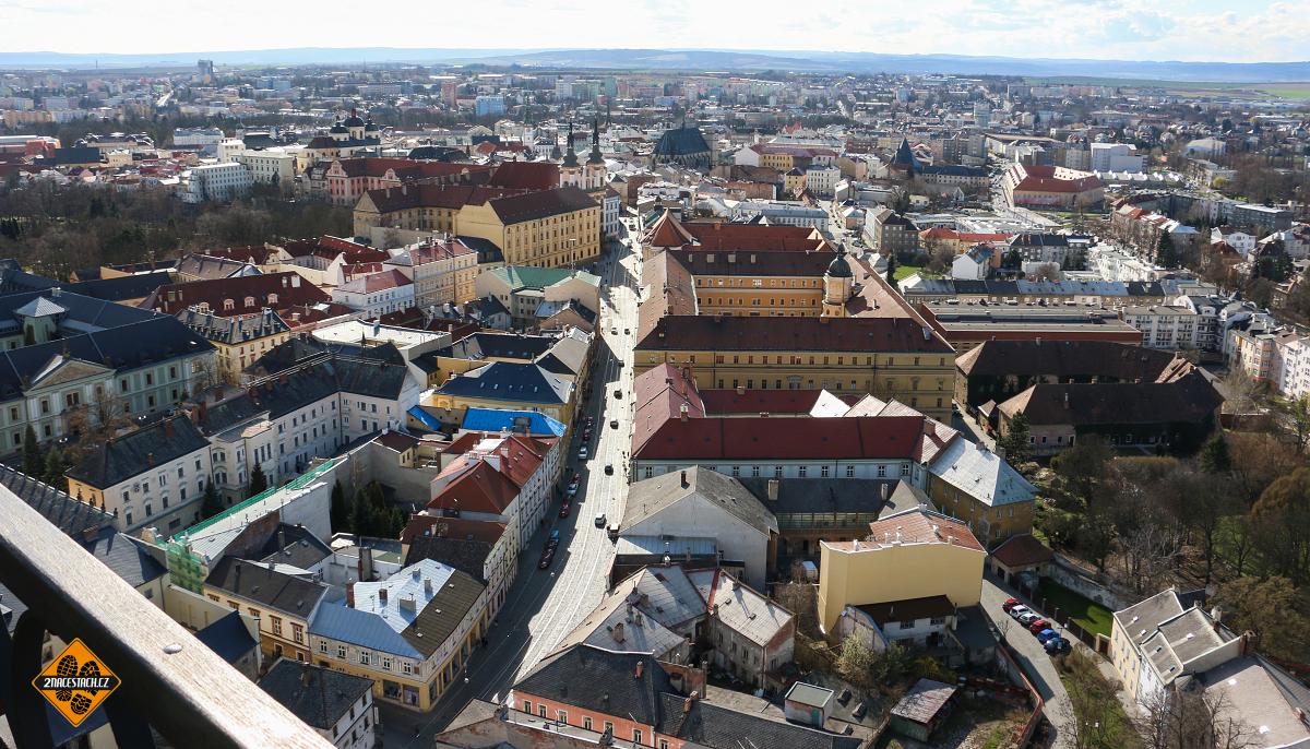 Centrum Olomouce z věže sv. Václava