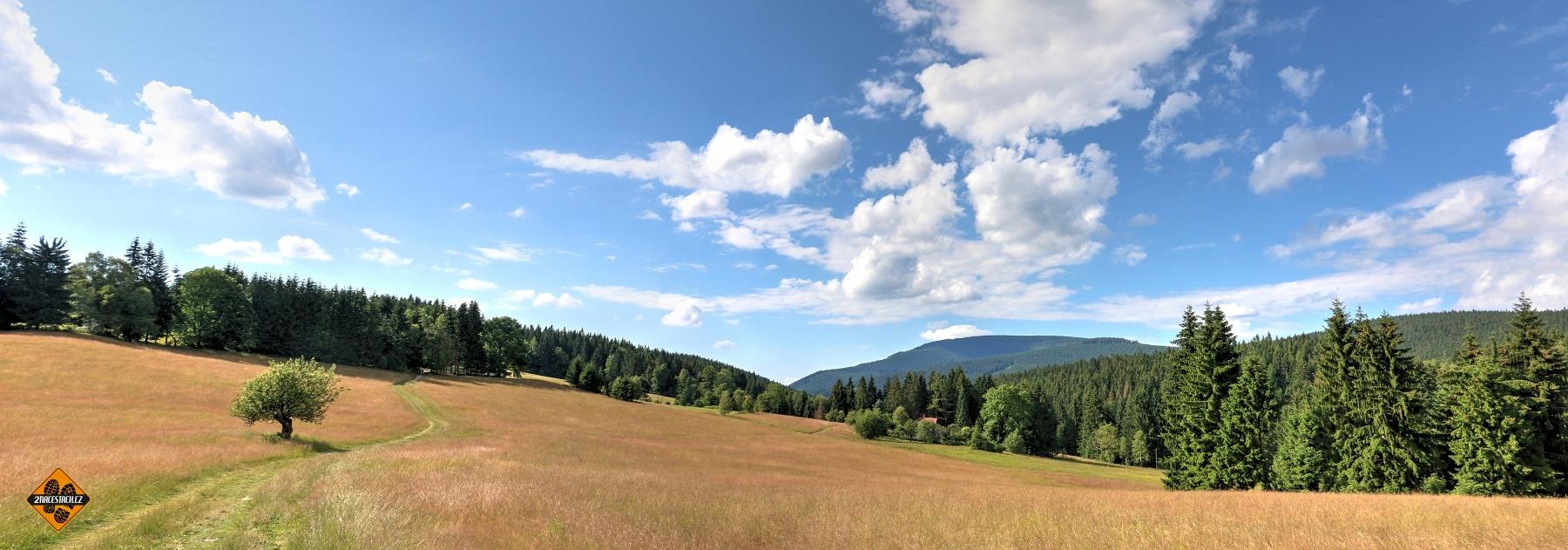 Panorama u Obidové, Beskydy