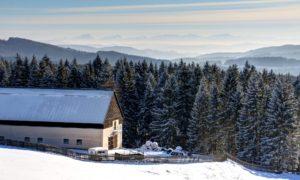 Zimní romantika na Grůni a Bílém Kříži v Beskydech