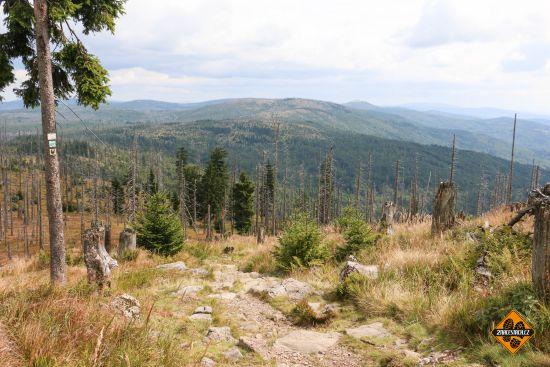 stoupání na grosser rachel, bavorský les