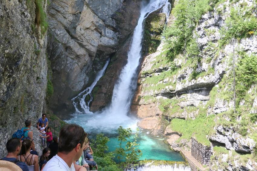 Národní park Triglav, vodopád Savica, Slovinsko