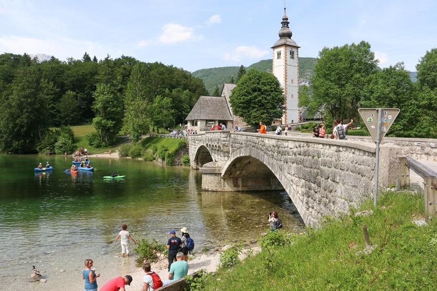Národní park Triglav, Ribčev Laz, Slovinsko