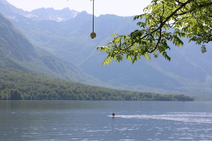 Národní park Triglav, jezero Bohinj, Slovinsko